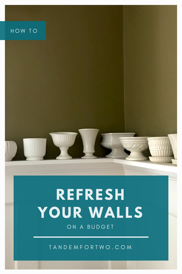 How to Refresh your Walls on a Budget - Tandem For Two