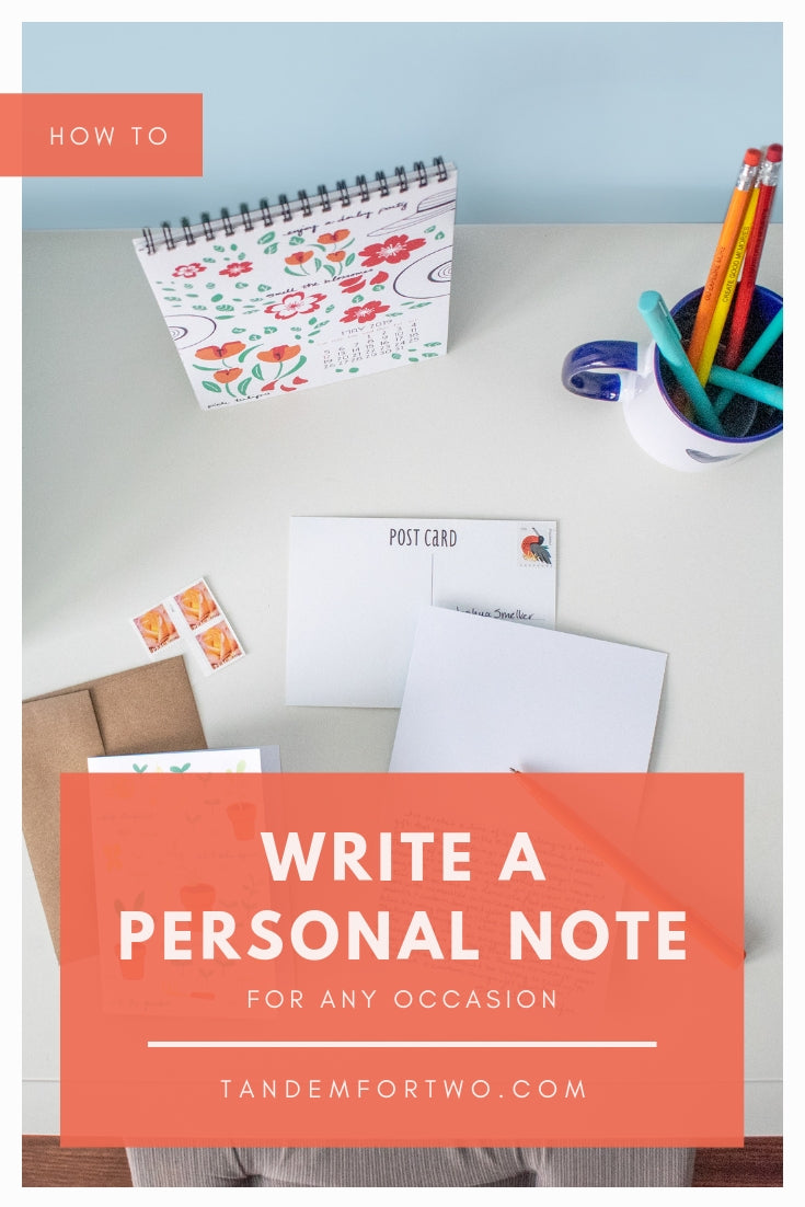 How To Write a Personal Note for any Occasion - Tandem For Two