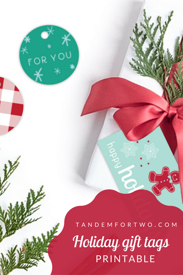 Freebie: December 2017 Holiday Gift Tags Printable from Tandem For Two