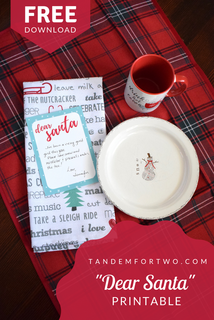 "Freebie: ""Dear Santa"" Printable"