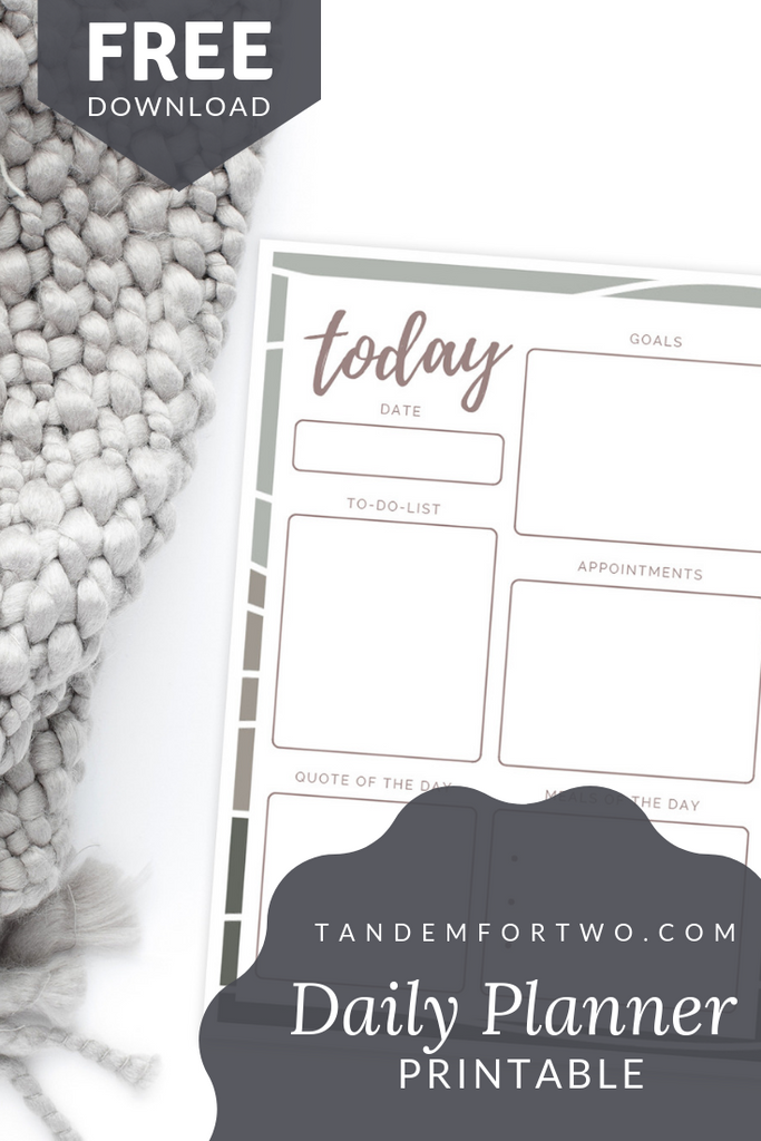 Freebie: Daily Planner Printable - Tandem For Two