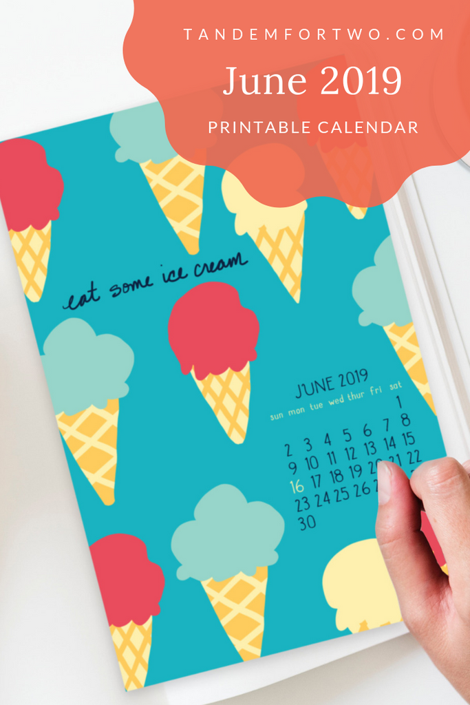 Freebie: June 2019 Calendar Tandem For Two