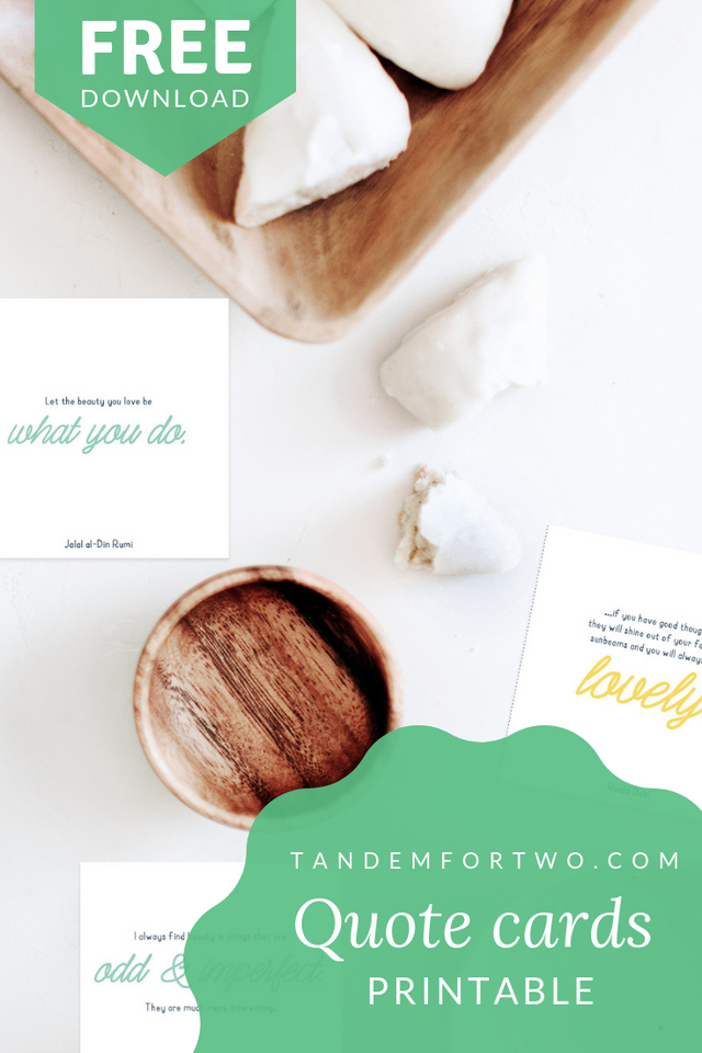 Freebie: Quote Cards Printable - Tandem For Two
