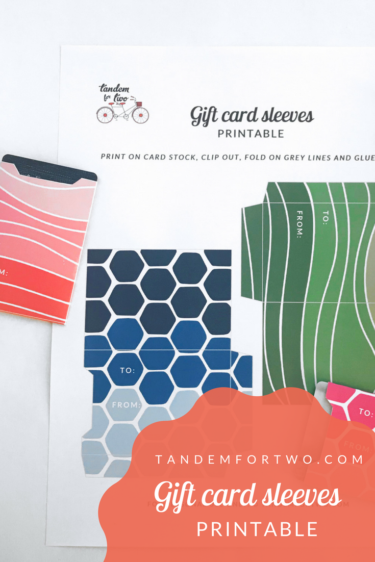 Freebie: May 2018 Gift Card Sleeves Printable - tandemfortwo.com