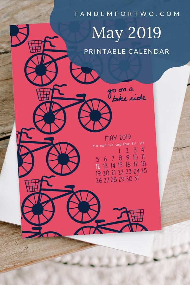 Freebie: May 2019 Calendar - Tandem For Two