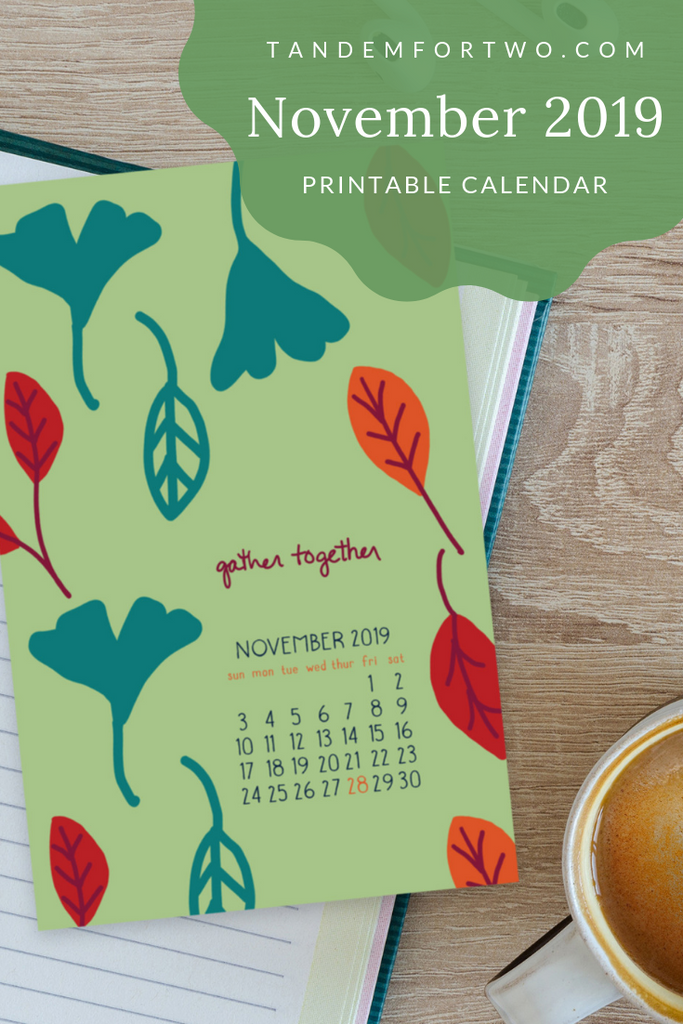 Freebie: November 2019 Calendar - Tandem For Two