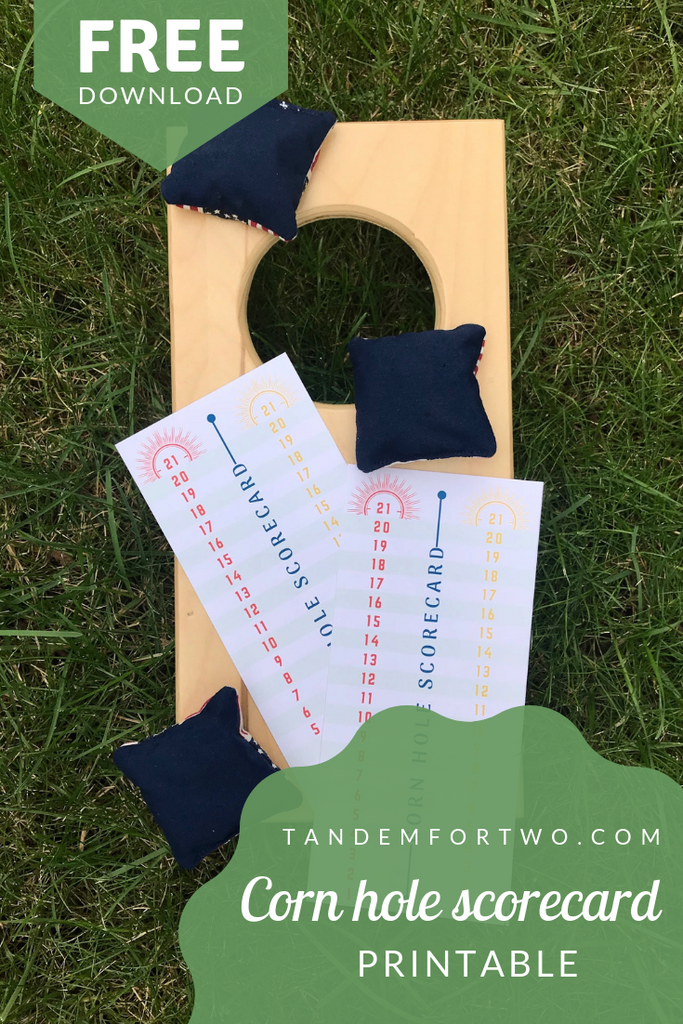 Freebie: October 2018 Corn Hole Scorecard Printable - Tandem For Two