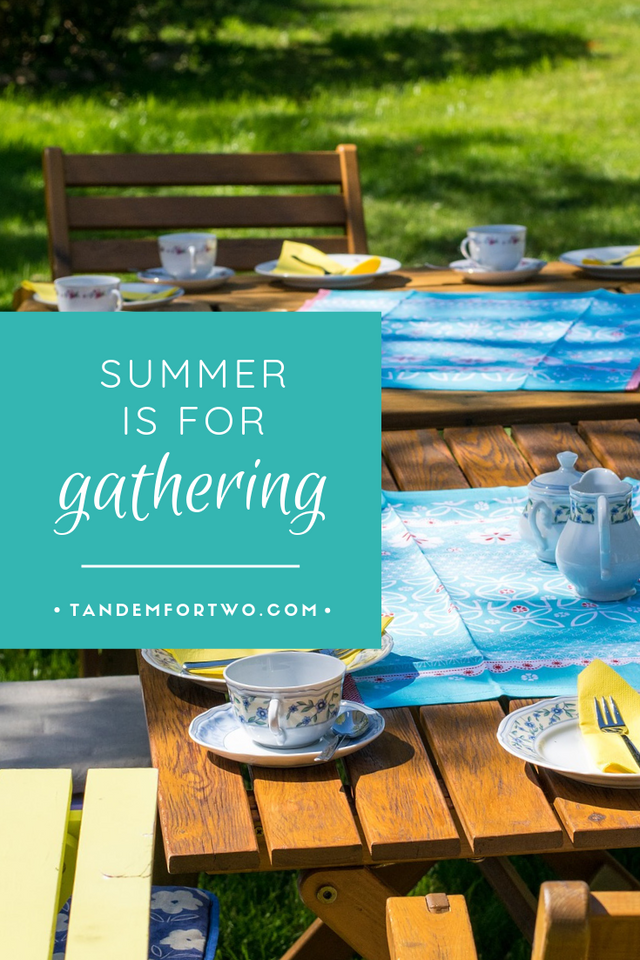 Summer is for Gathering  - Tandem For Two