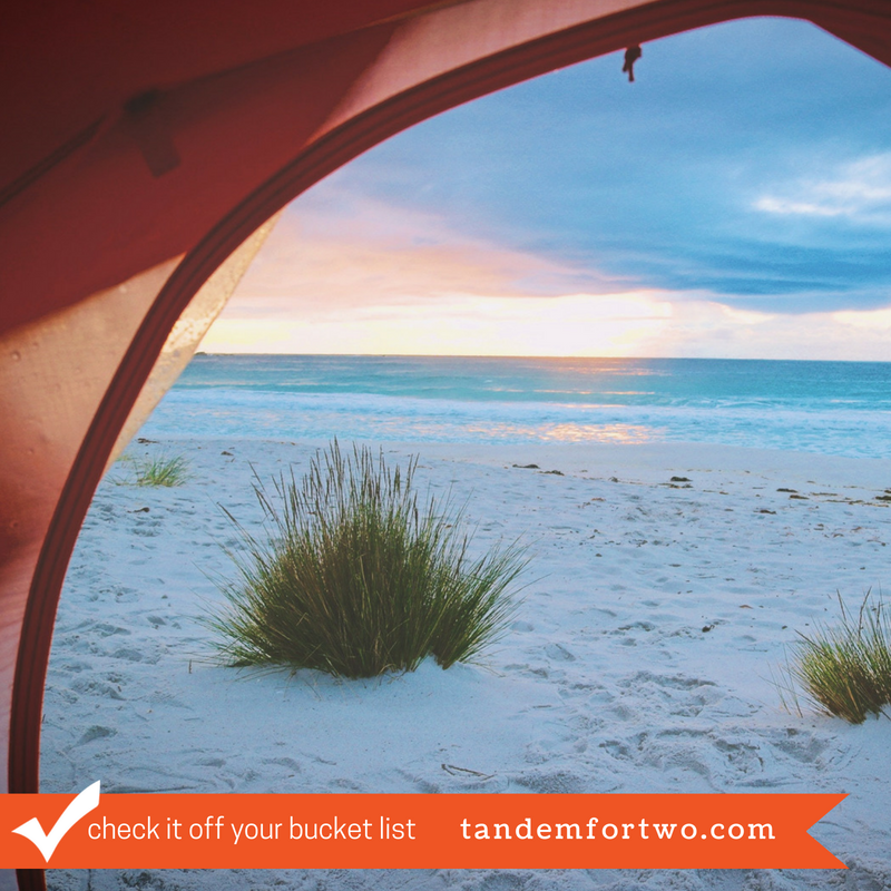 Check It Off Your Bucket List: Camp on the Beach - tandemfortwo.com