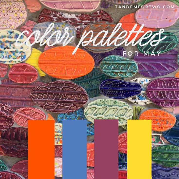 May Color Palettes from Tandem For Two
