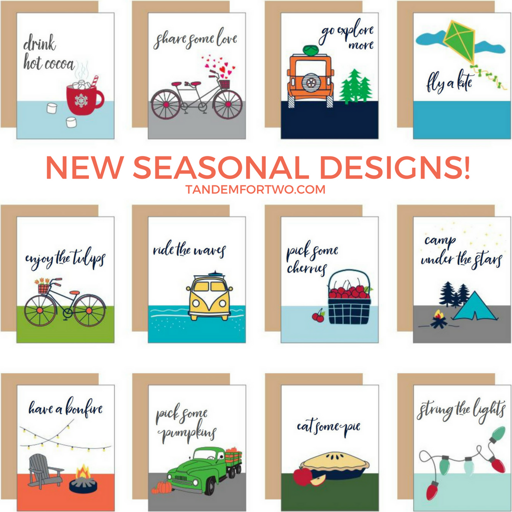 Stock Up on our NEW Seasonal Designs!
