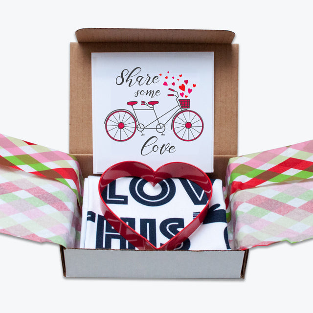 Share Some Love: Tea Towel & Cookie Cutter Bundle