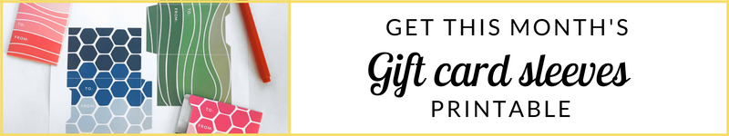 FREEBIE gift card sleeves