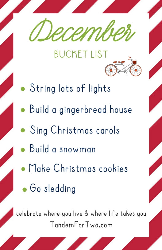December Bucket List from Tandem For Two