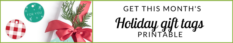 Holiday Gift Tags Printable from Tandem For Two