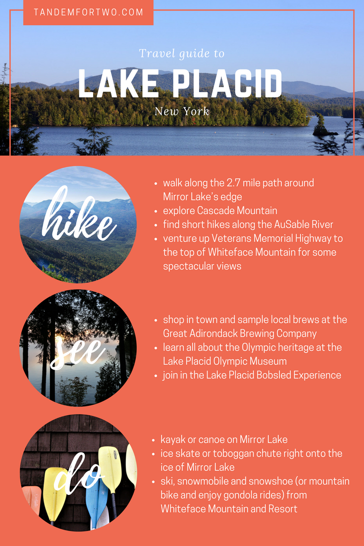 Explore the Andriondacks in Lake Placid, NY - tandemfortwo.com
