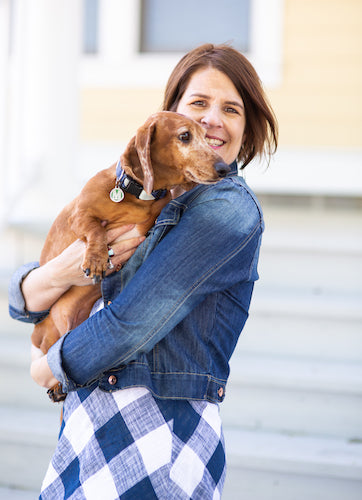 owner Jennifer and dog Max