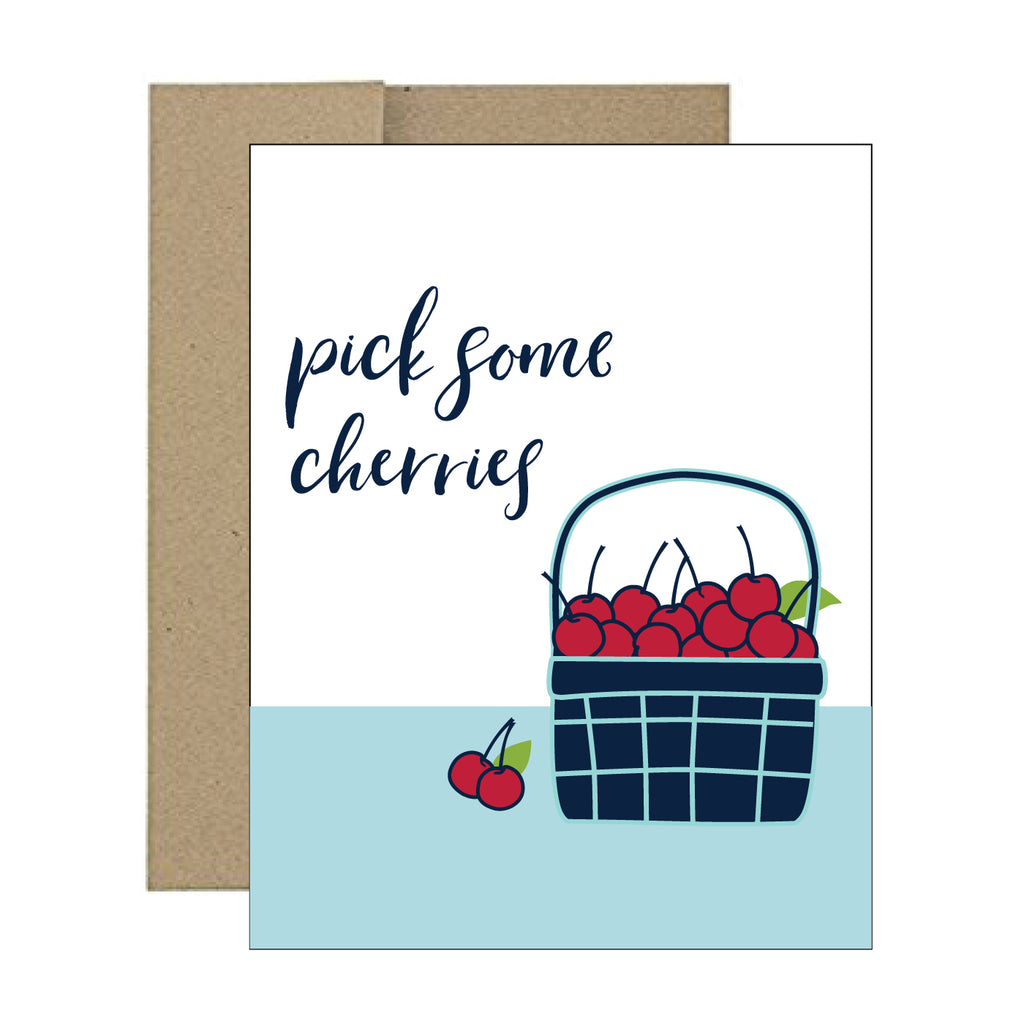 Greeting Card - Pick Some Cherries