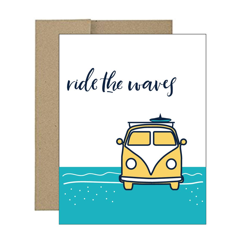 Greeting Card - Ride the Waves