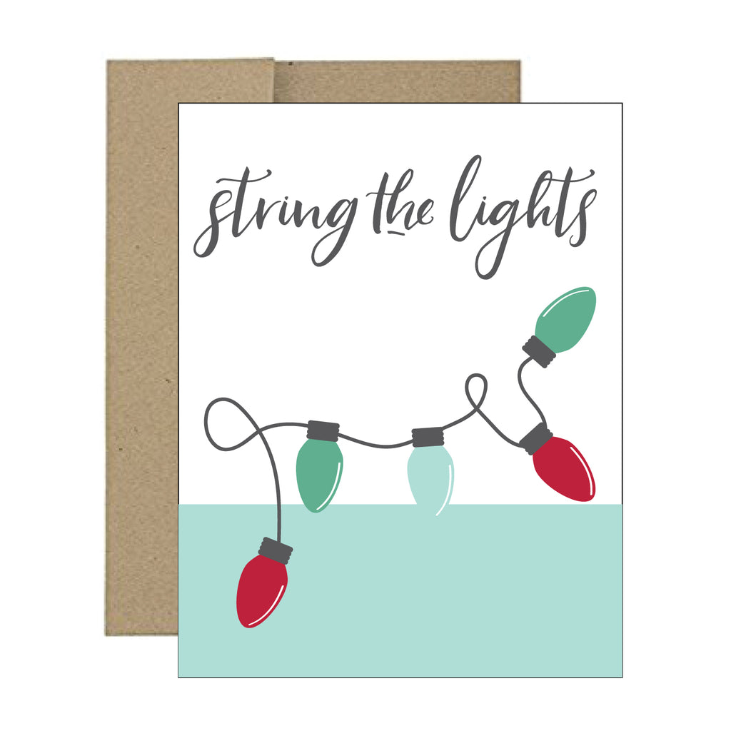 Greeting Card - String the Lights