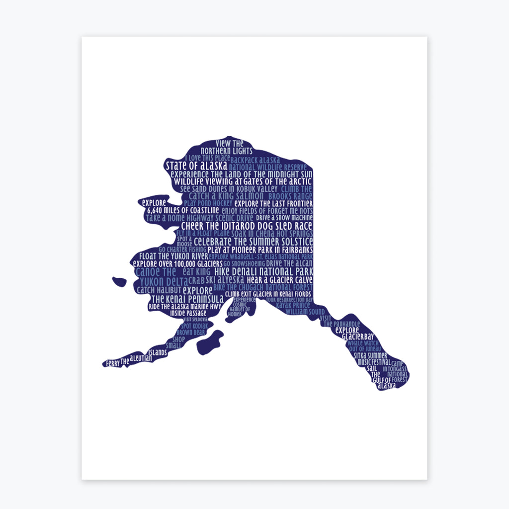Art Print - Alaska Silhouette - Tandem For Two