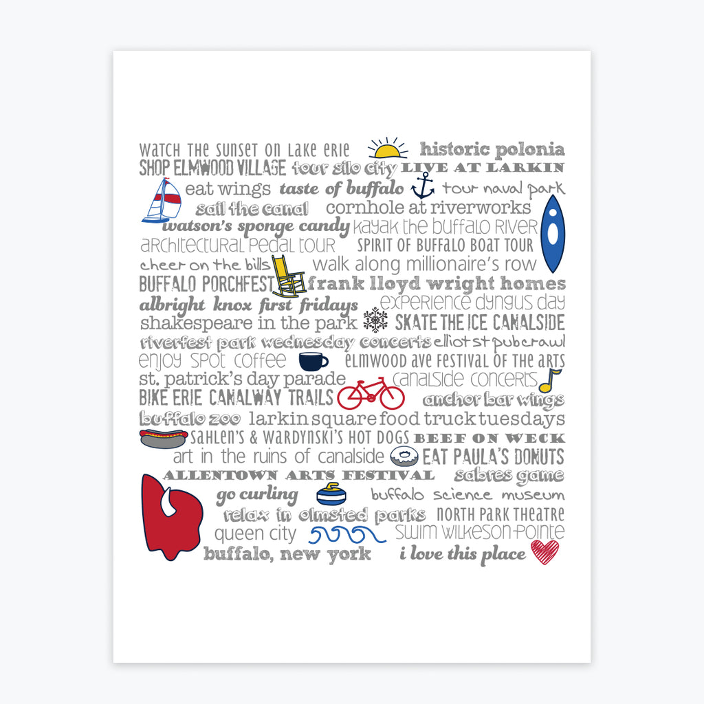 Art Print - Buffalo Bucket List
