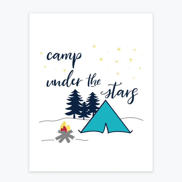 Art Print - Camp Under the Stars