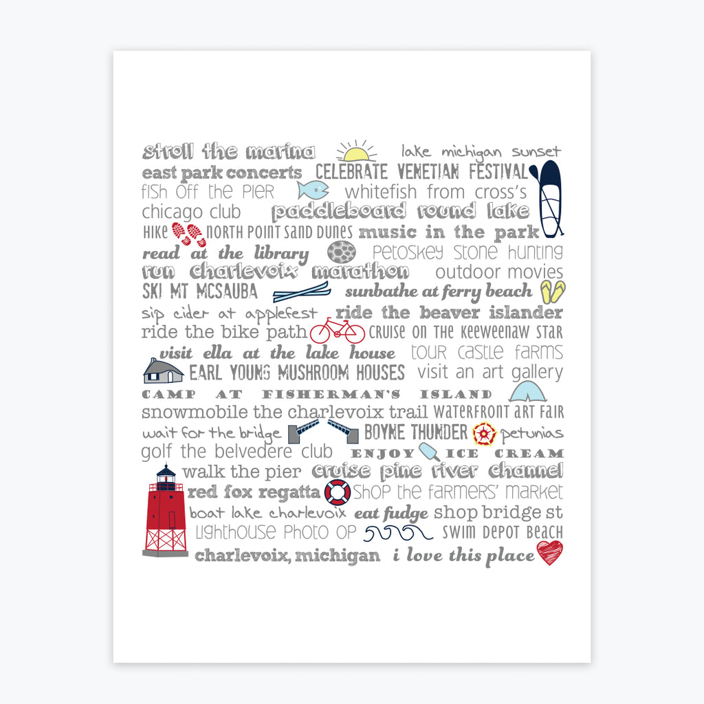 Art Print - Charlevoix Bucket List