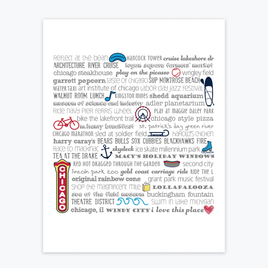 Art Print - Chicago Bucket List - Tandem For Two