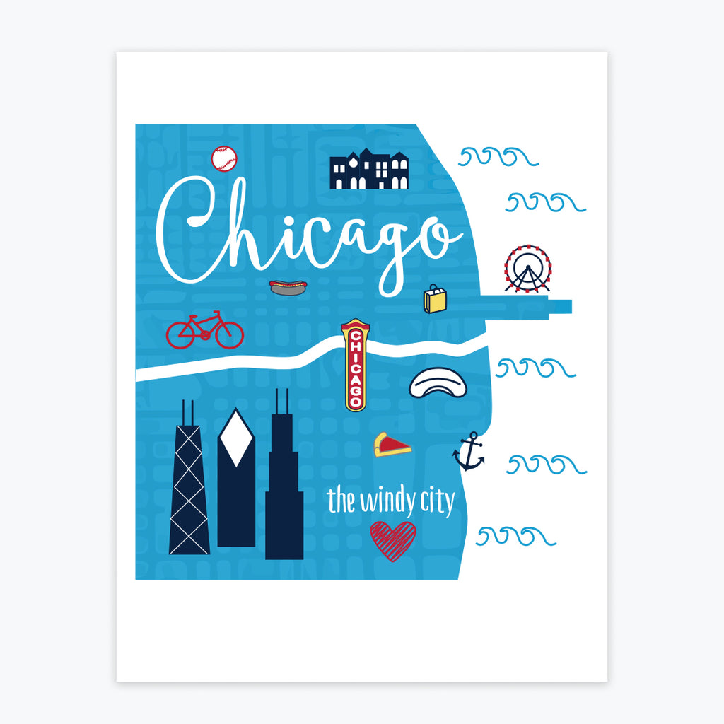 Art Print - Chicago Icons - Tandem For Two