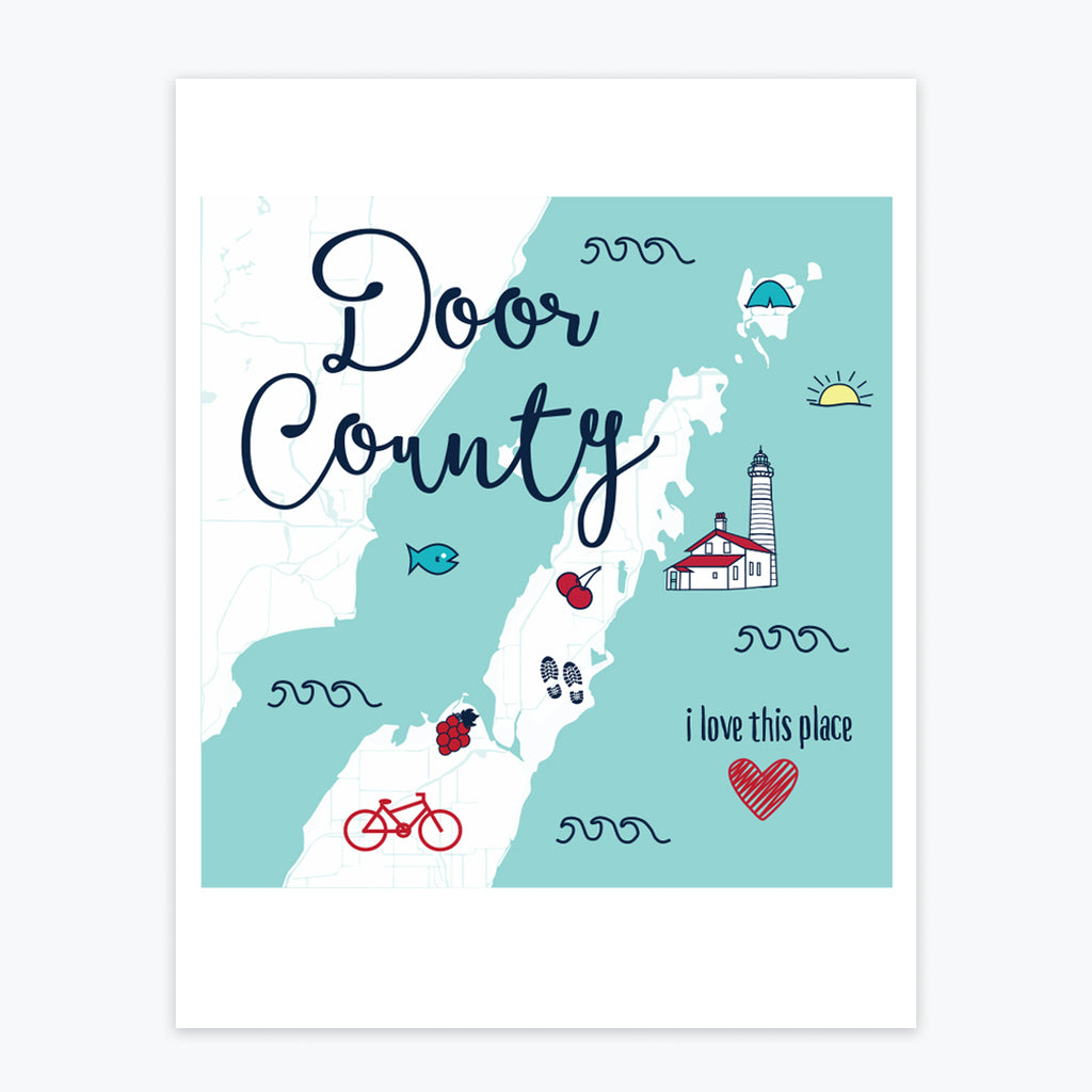 Art Print - Door County Icons