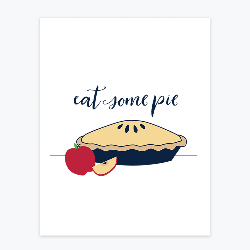 Art Print - Eat Some Pie - Tandem For Two