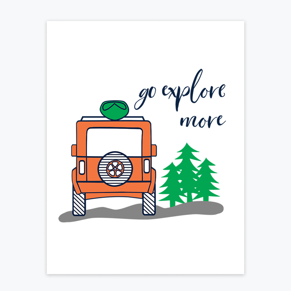 Art Print - Go Explore More - Tandem For Two