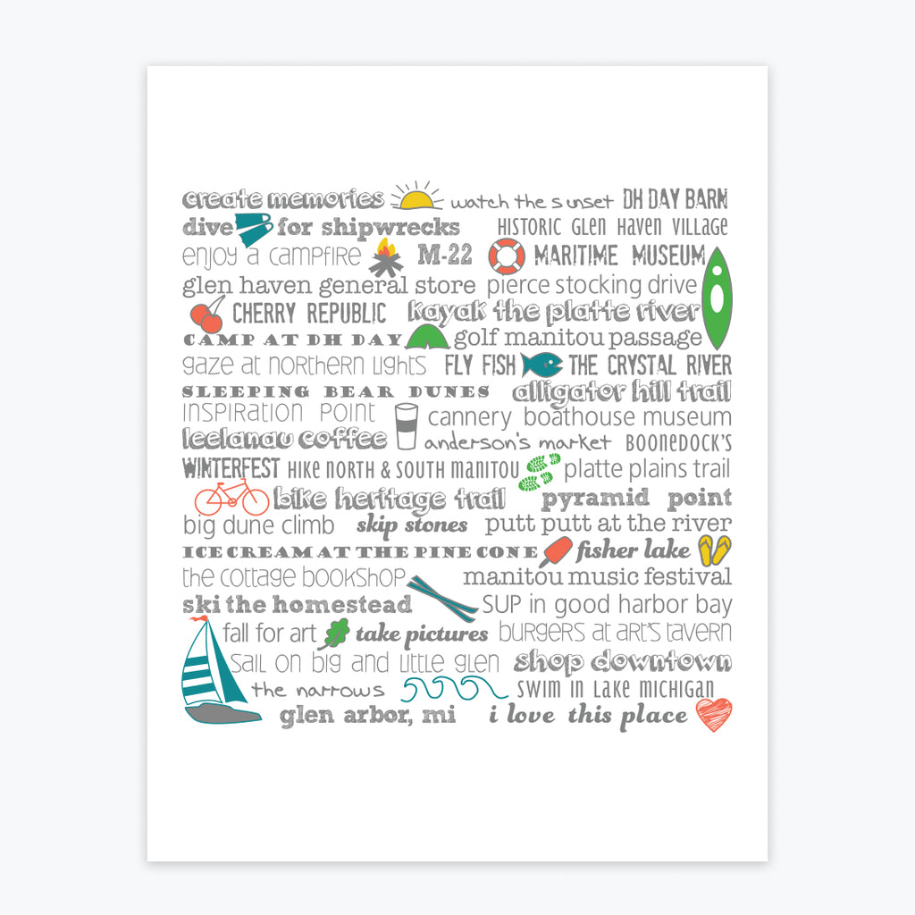 Art Print - Glen Arbor Bucket List