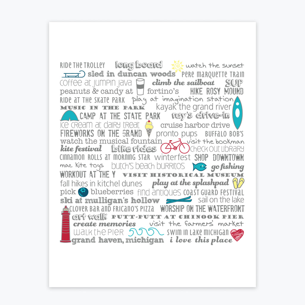 Art Print - Grand Haven Bucket List