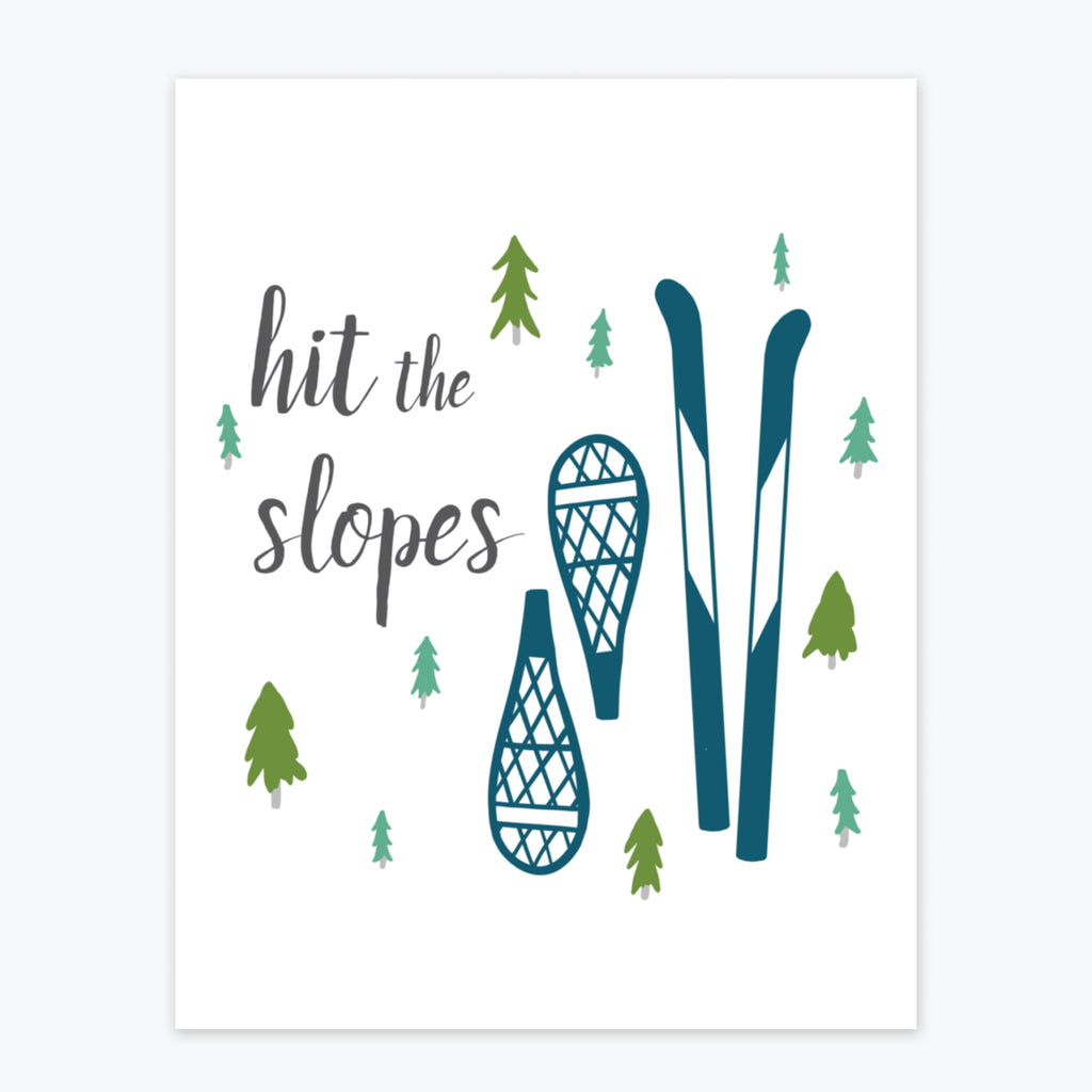Art Print - Hit The Slopes