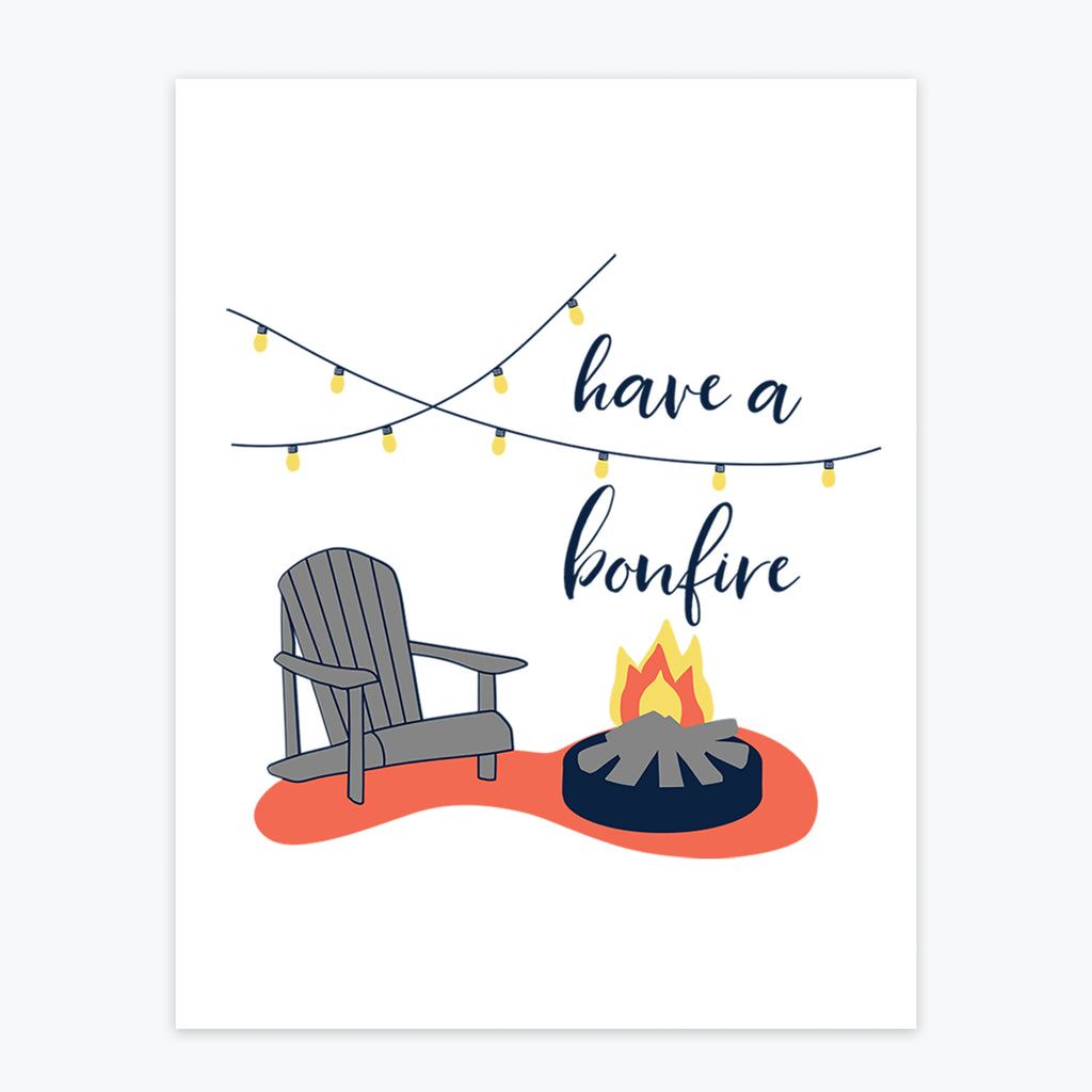 Art Print - Have A Bonfire - Tandem For Two