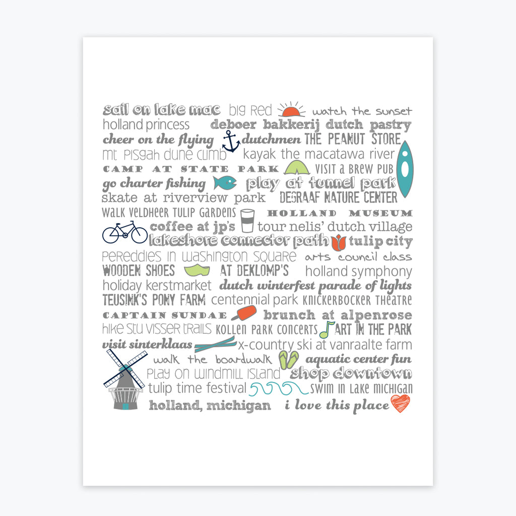 Art Print - Holland Bucket List