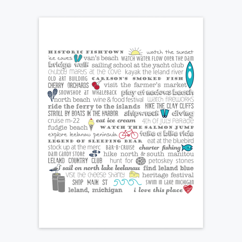 Art Print - Leland Bucket List