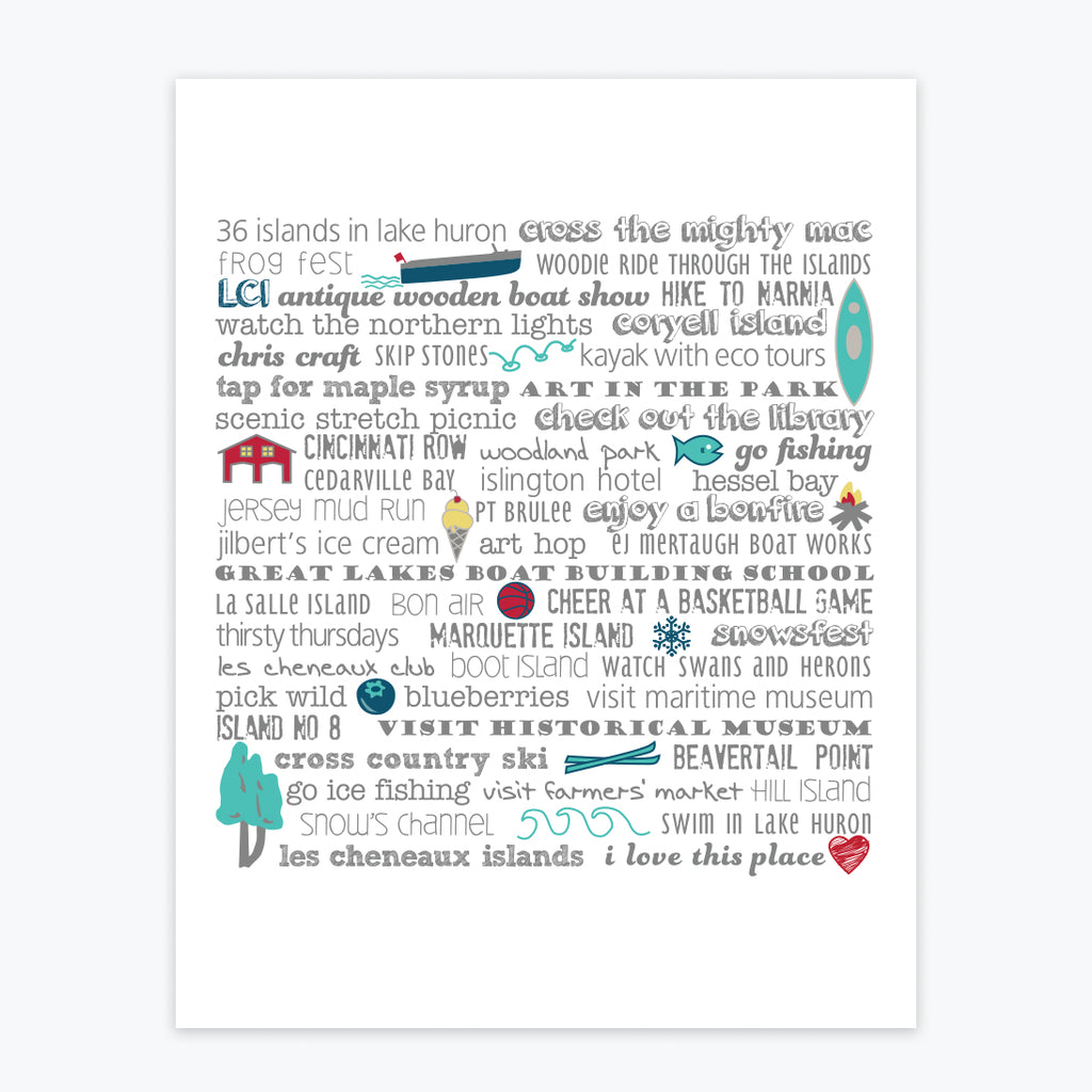Art Print - Les Cheneaux Islands Bucket List