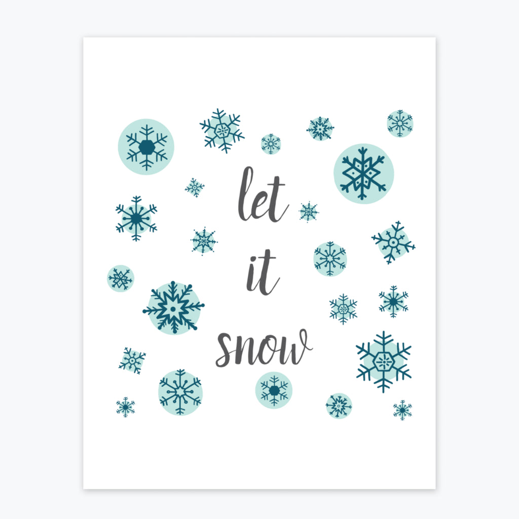 Art Print - Let It Snow