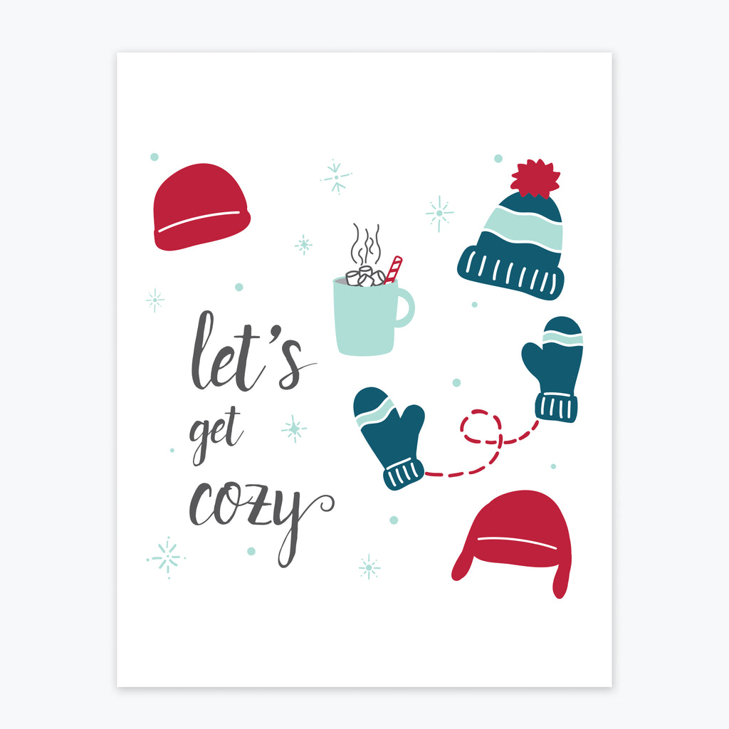 Art Print - Let's Get Cozy