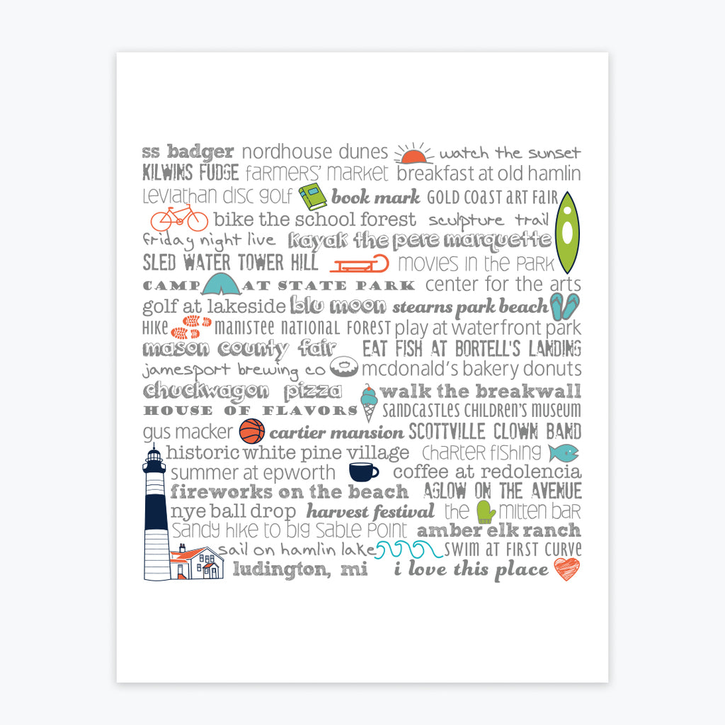 Art Print - Ludington Bucket List