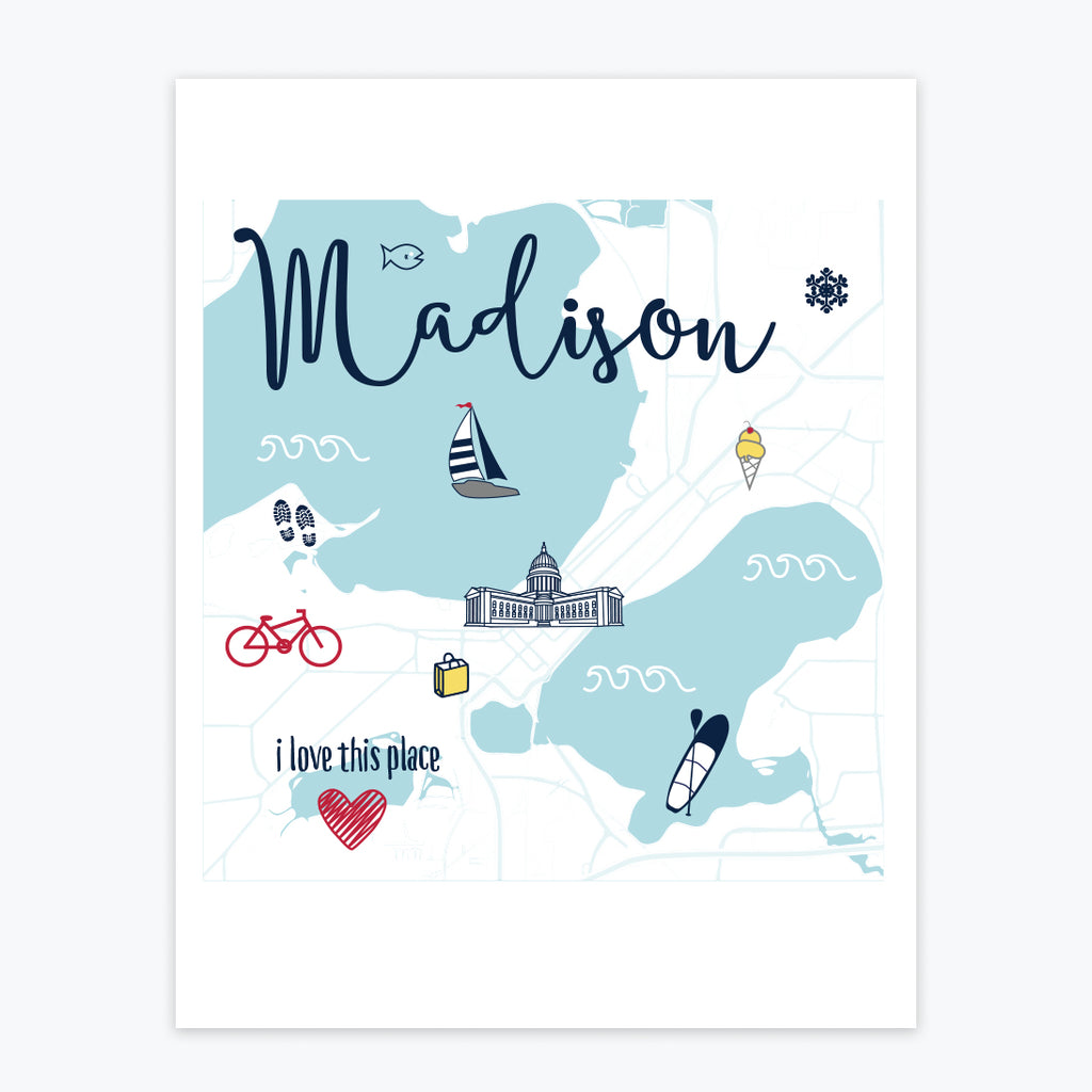 Art Print - Madison Icons