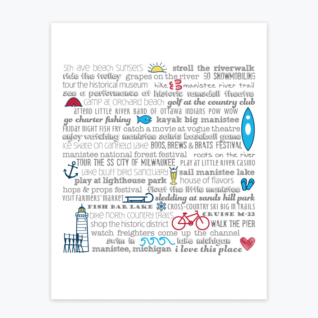 Art Print - Manistee Bucket List