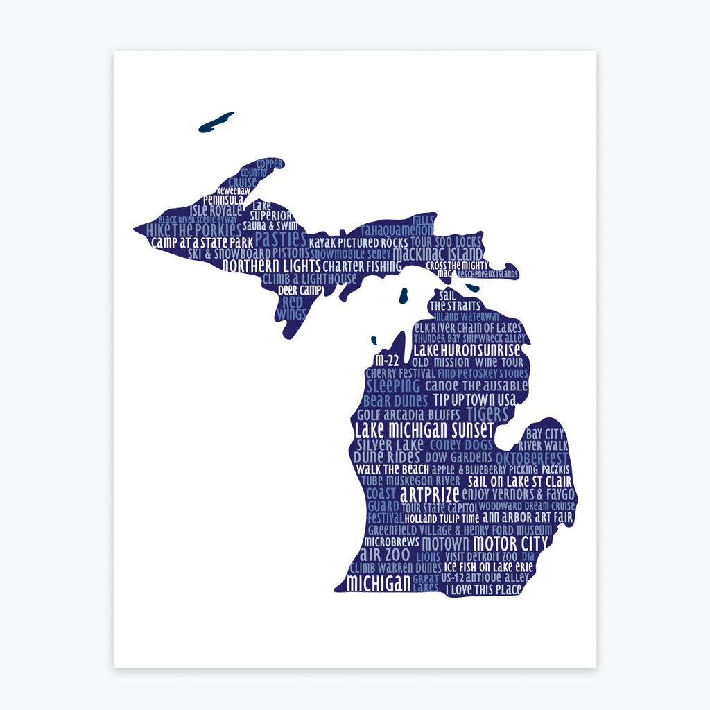 Art Print - Michigan Silhouette