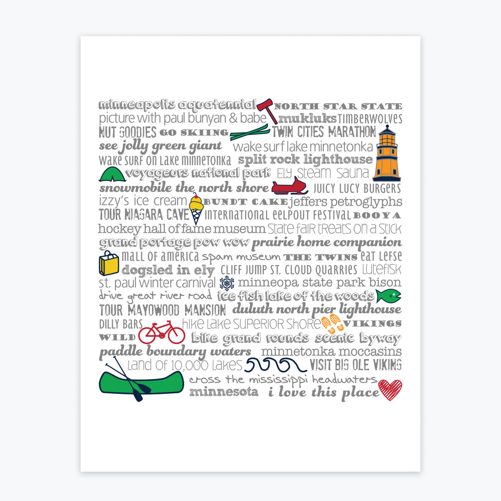 Art Print - Minnesota Bucket List