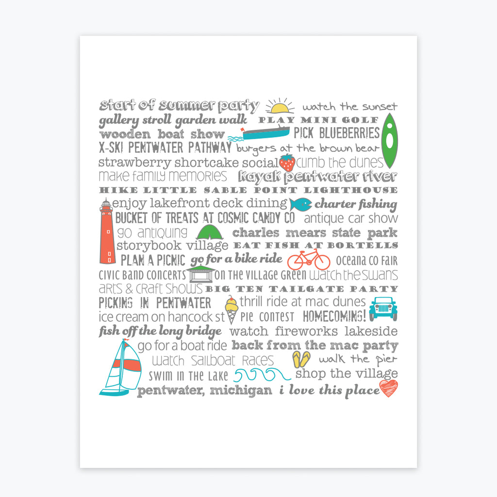 Art Print - Pentwater Bucket List