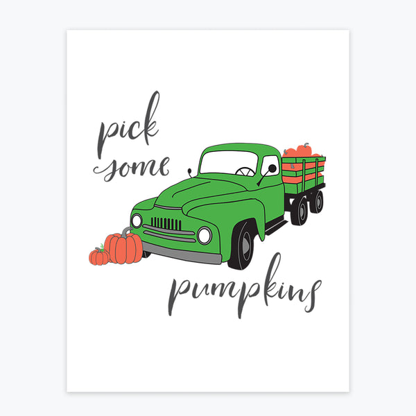 Art Print - Pick Some Pumpkins