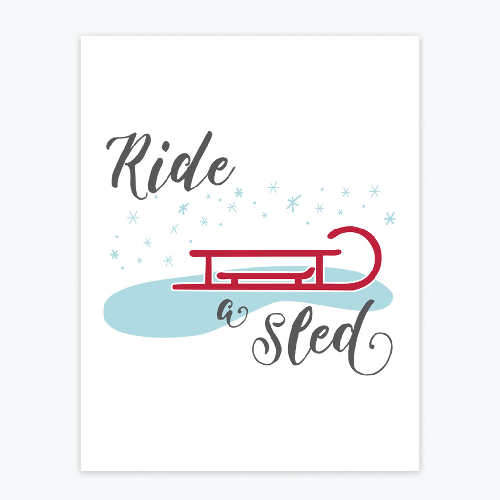 Art Print - Ride A Sled